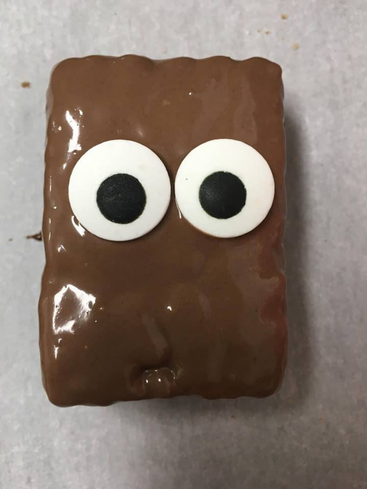Chocolate Covered Reindeer Krispy Rice treat