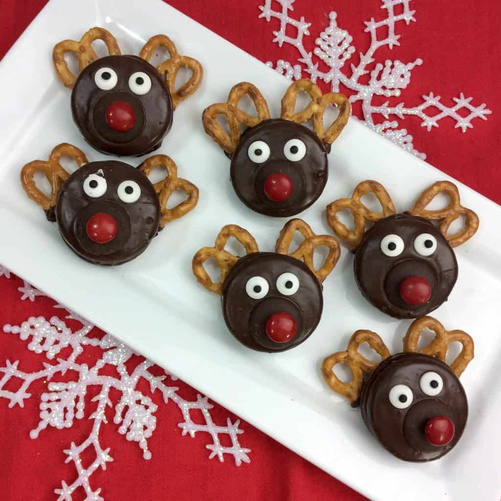 Chocolate Covered Oreo Rudolph the Red Nosed Reindeer