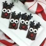 Chocolate dipped Reindeer pretzels