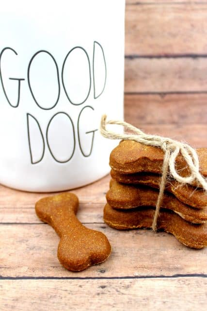 Homemade Pumpkin Peanut Butter Dog Biscuit