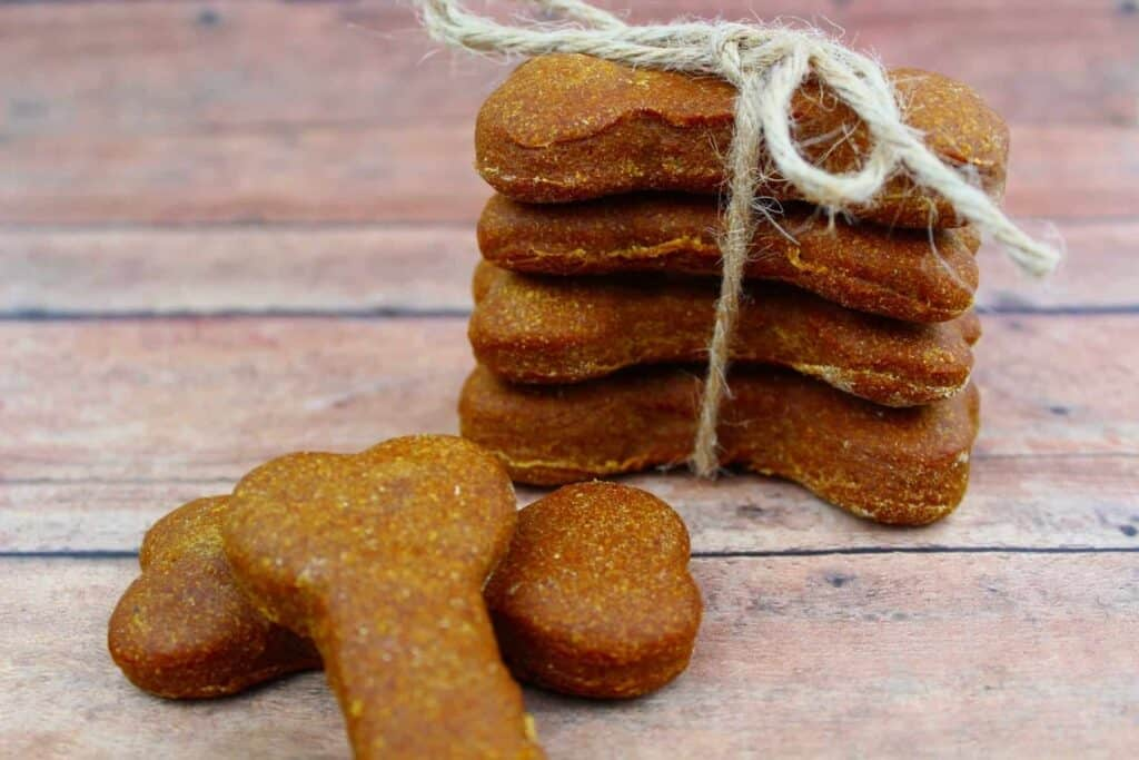 dog bone shaped dog biscuits