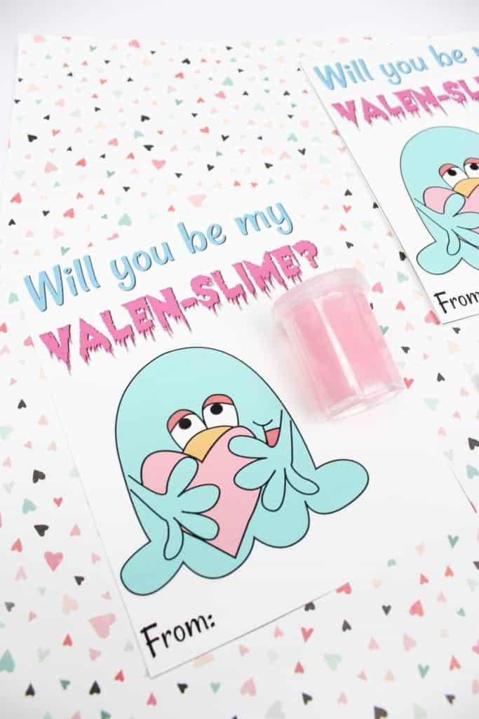 Valentine Slime Printable Card Free Kids Valentine Printable