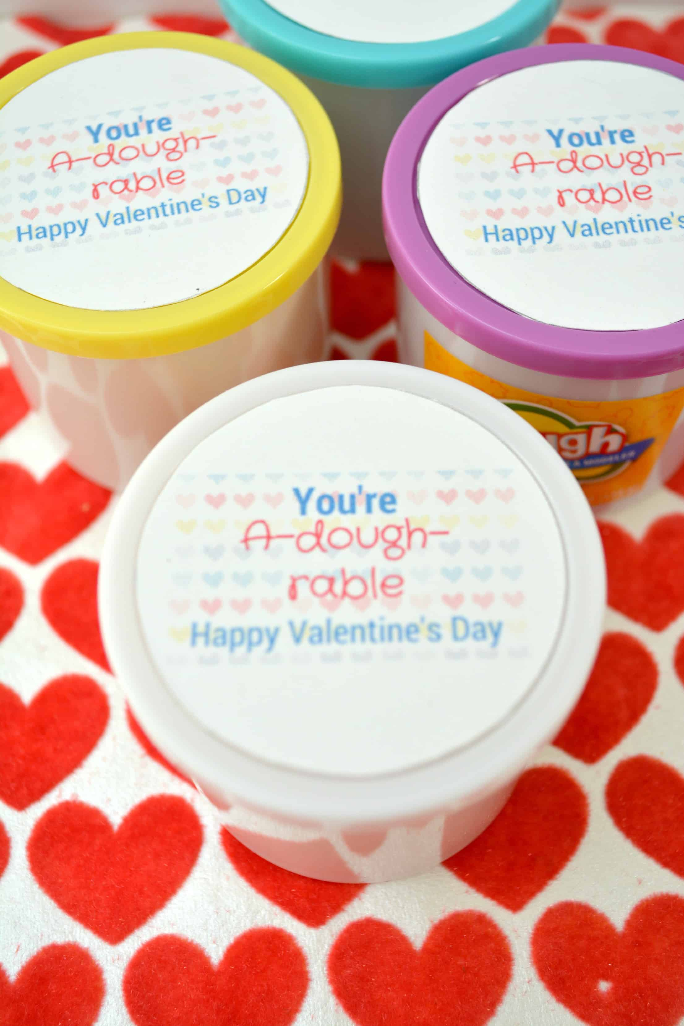 You're A-dough-rable Kids Printable Valentine