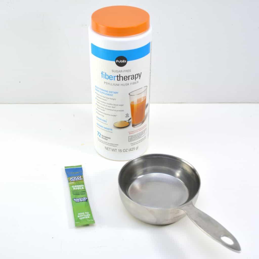 Slime supplies on table