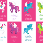 Free Printable Unicorn Valentines Cards for Kids