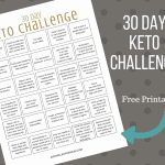 Keto 30 Day Challenge Printable