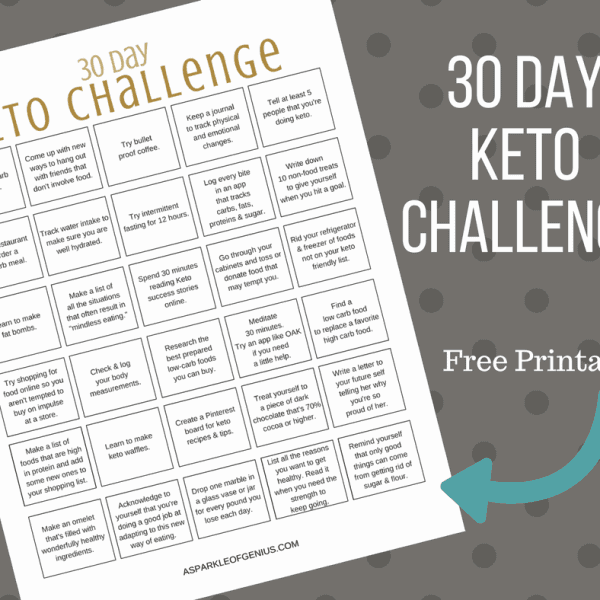30 Day Ketogenic Challenge Printable