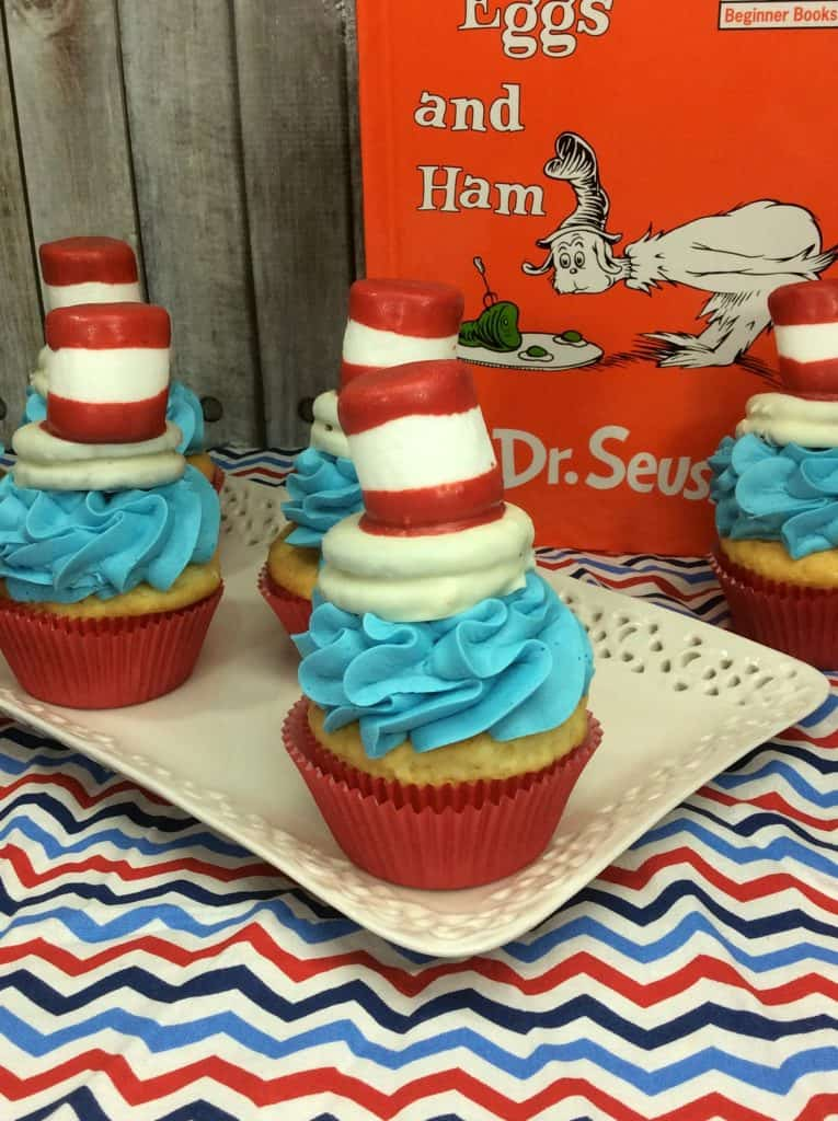 Cat in the Hat Cupcakes