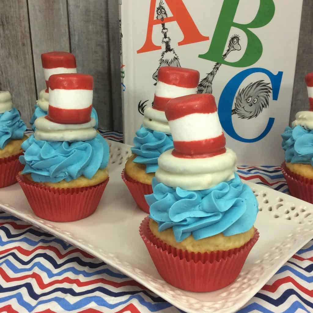 Dr. Seuss Hat Cupcake