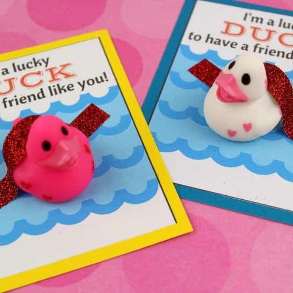 I'm a Lucky Duck to have a Friend Like you! Valentine's Day Card Duck Printable