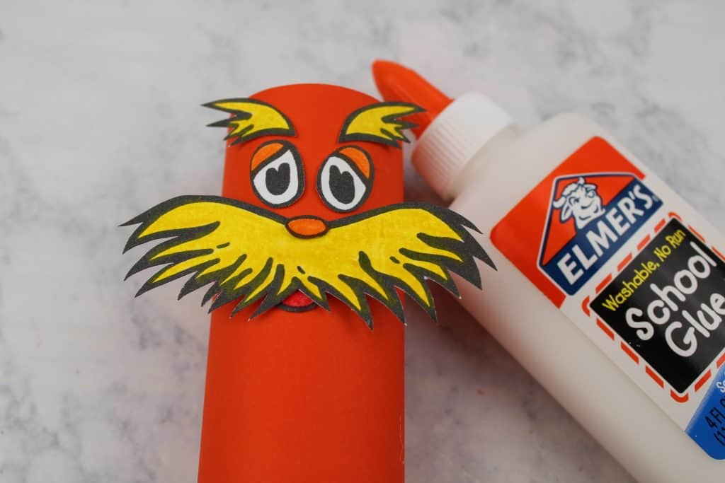 Dr. Seuss Lorax Toilet Paper Roll Craft