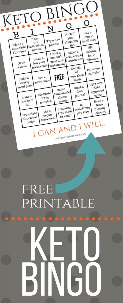 Keto Bingo Free Printable