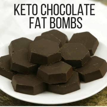 Chocolate fat bombs on a plate