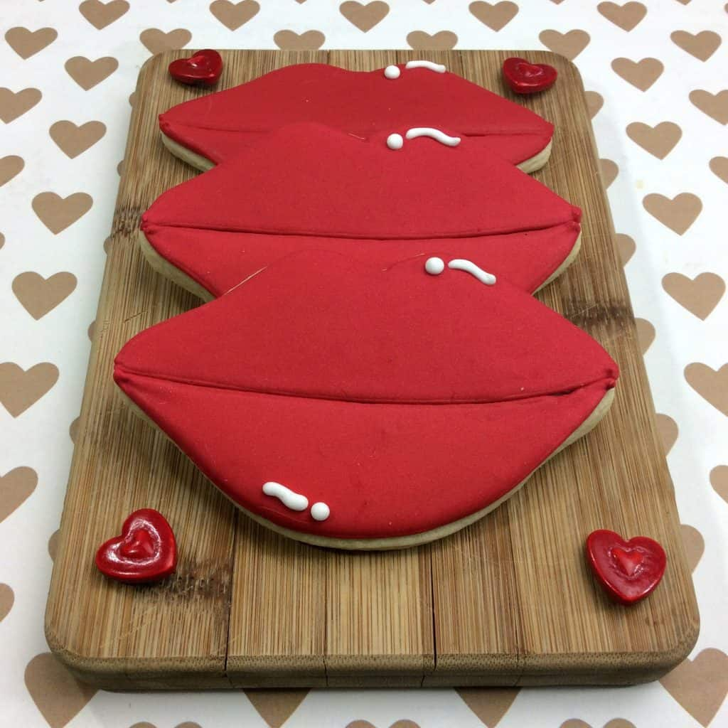 Valentine's Day Lip Shaped Sugar Cookies