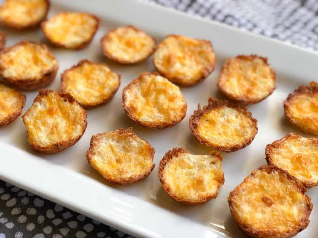 crispy cauliflower and cheese bites