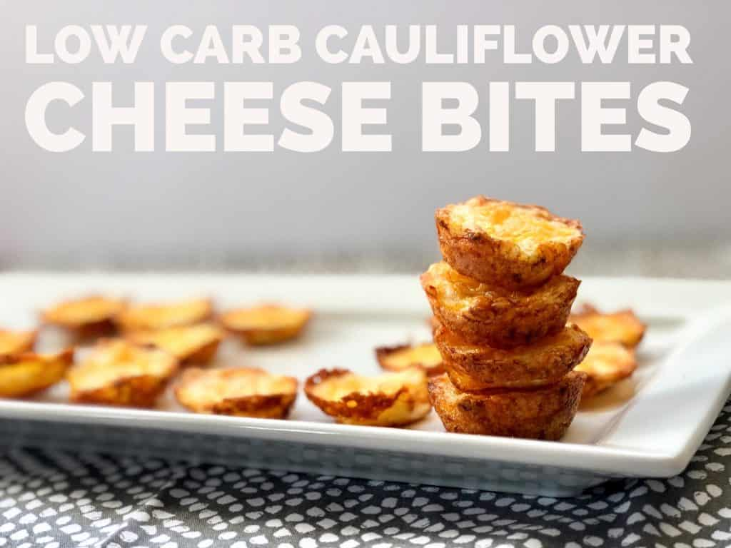 Low Carb Cauliflower Cheese Bites