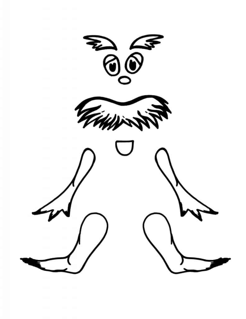 Lorax Eyes and Mustache Template