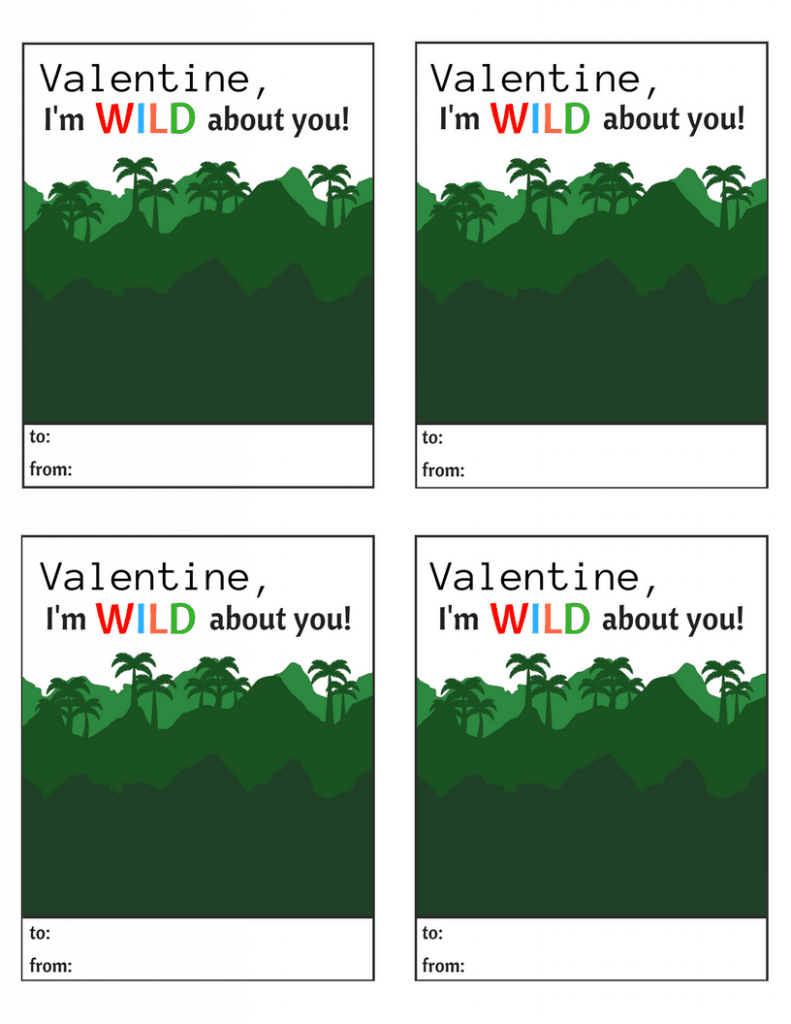 Valentine, I'm Wild About You Free Printable