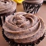 Close up of a cupcake
