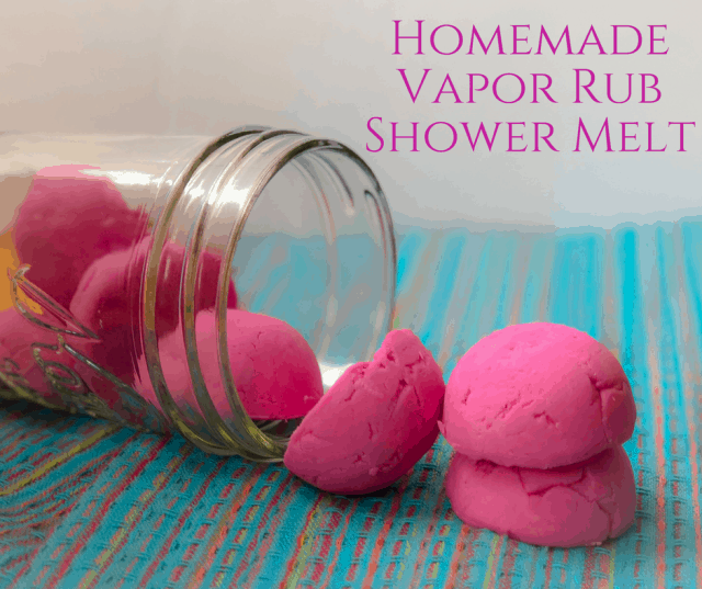 Homemade Vapor Rub Shower Melts