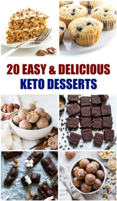 A bunch of different kinds of keto desserts