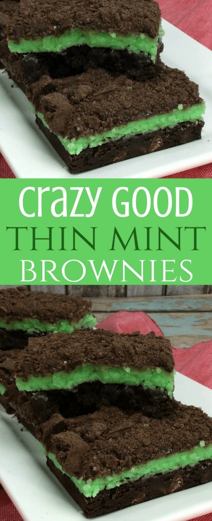 Thin Mint Brownies with Chocolate Ganache