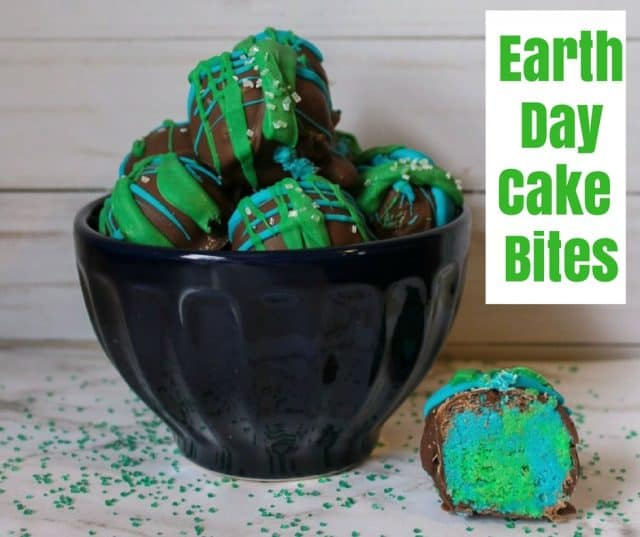 Earth Day Cake Bites