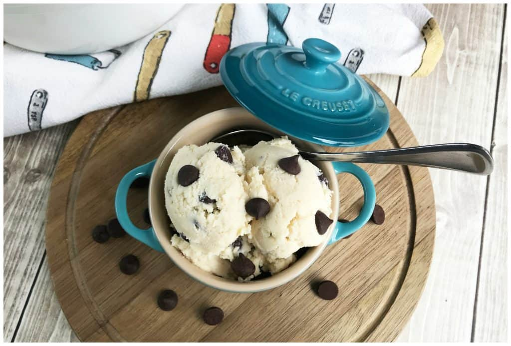 Low Carb Edible Chocolate Chip Cookie Dough