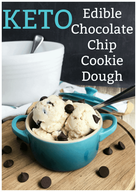 Cookie dough in a bowl