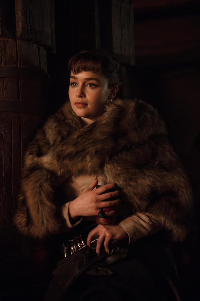 Emilia Clarke holding a cat