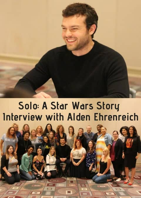 Alden Ehrenreich et al. posing for the camera