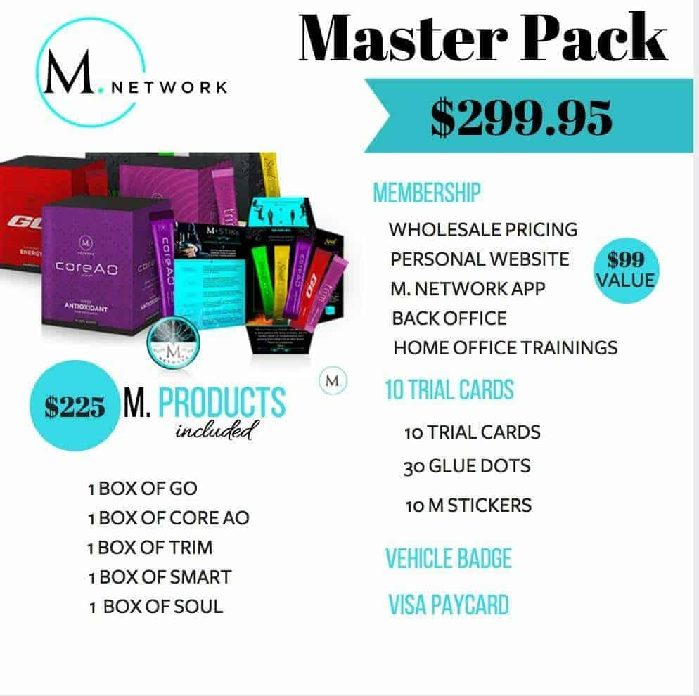 M Network Opportunity Sign Up Packs