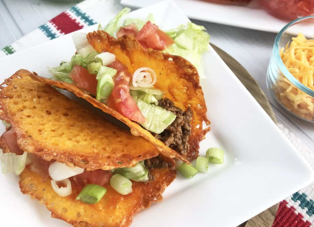 Keto Tacos with Cheese Shells