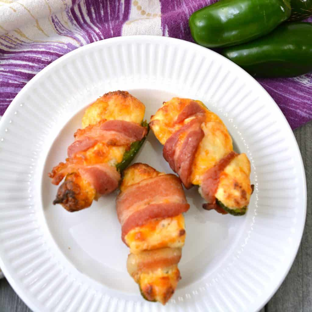 Keto Chicken Stuffed Jalapeno Poppers