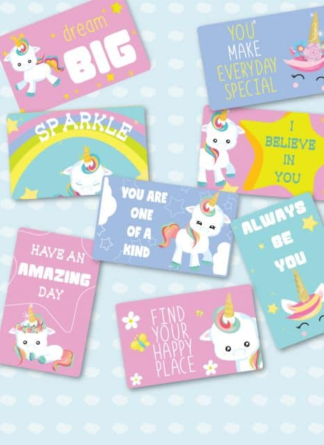 Unicorn Lunch box notes