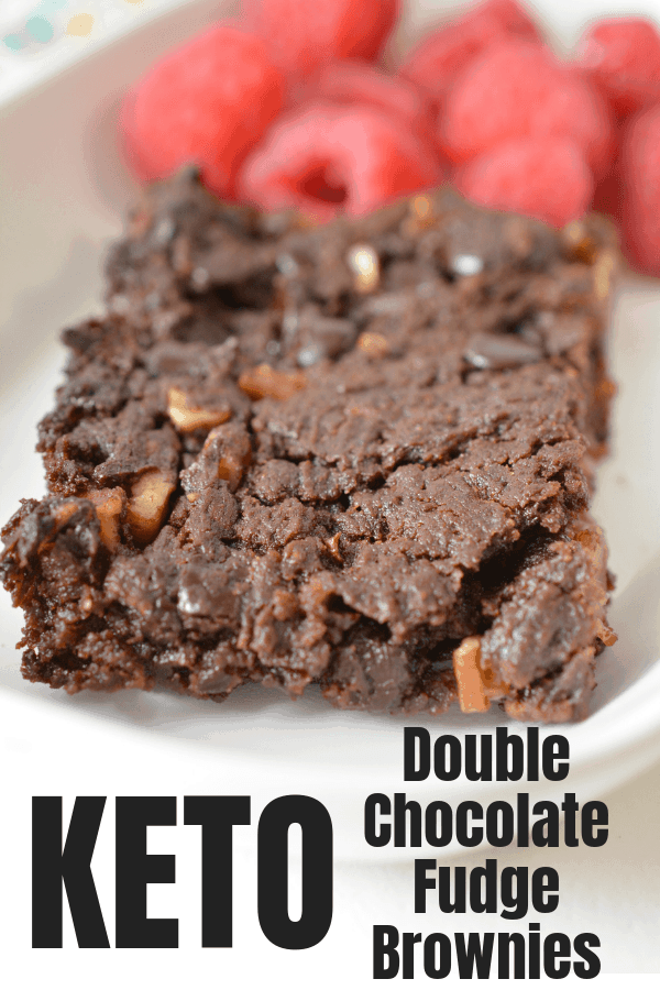 Keto Double Chocolate Fudge Brownie