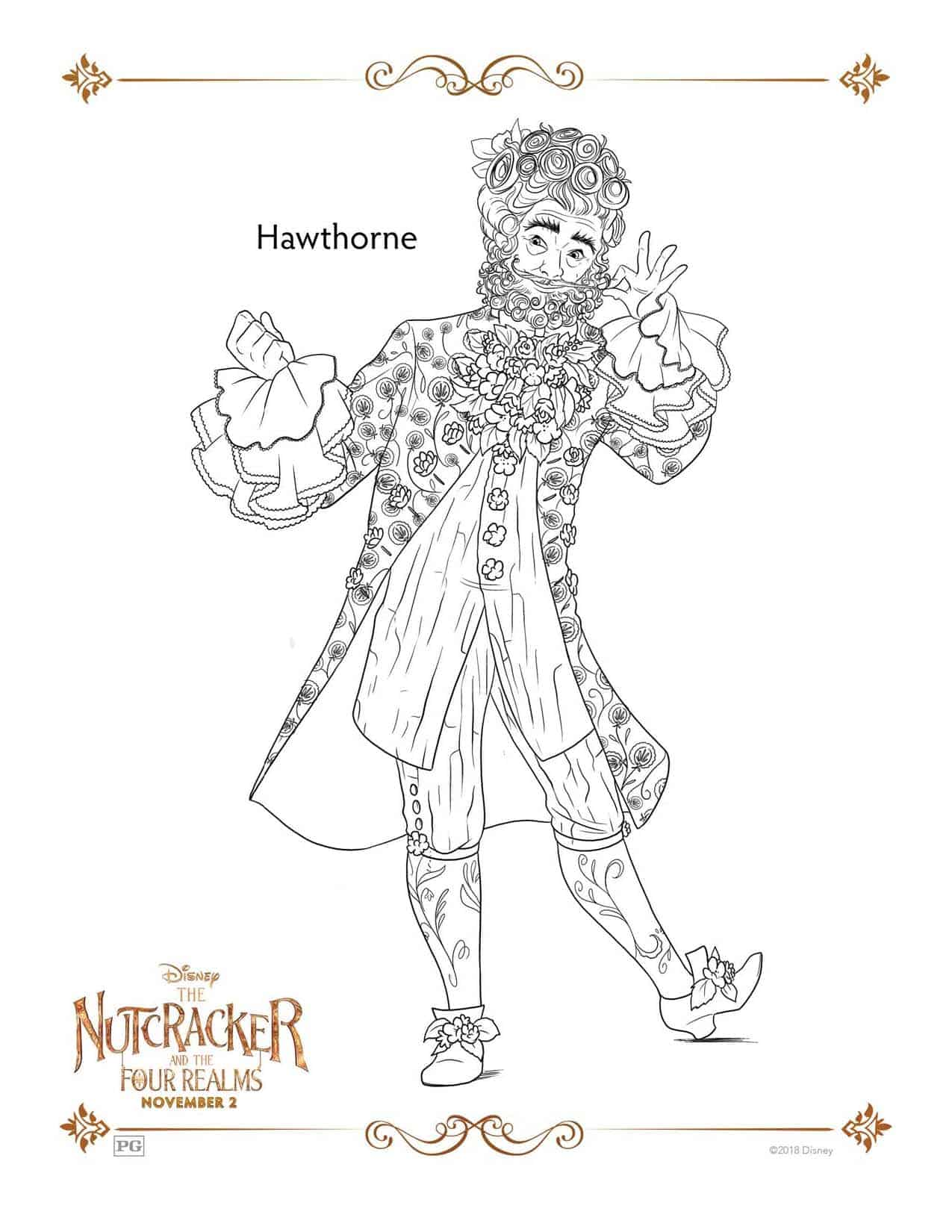Nutcracker Coloring Page Disney S The Nutcracker And The Four Realms