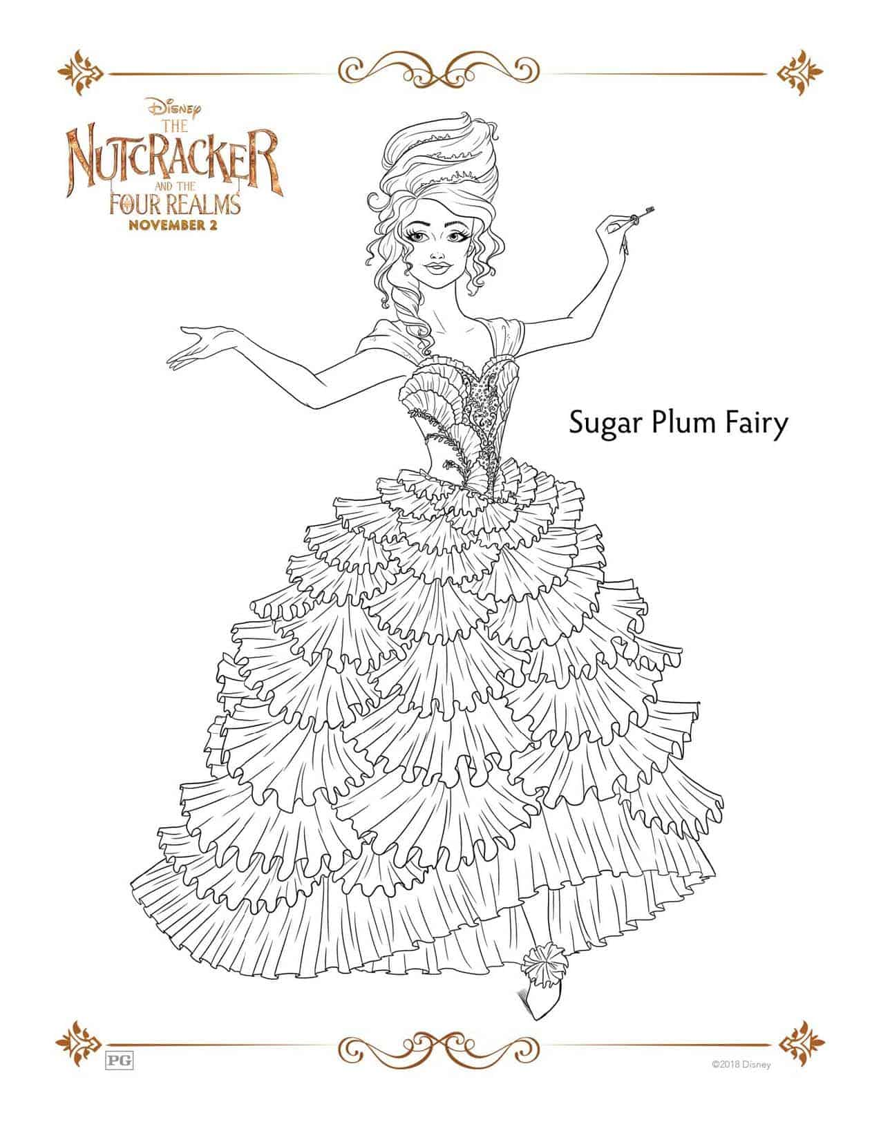 Nutcracker Coloring Page Disney S The Nutcracker And The