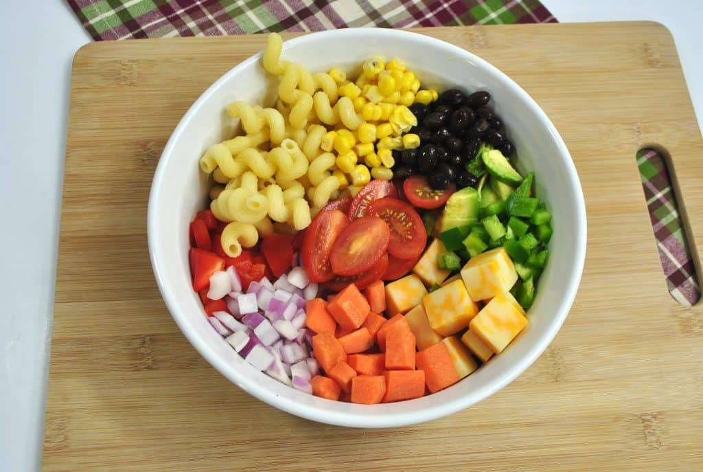 colorful pasta salad