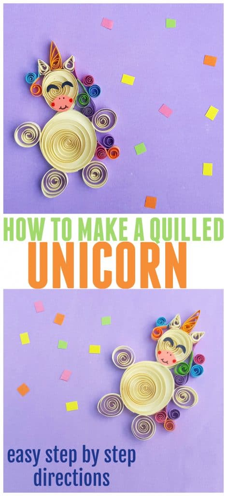 Easy Quilled Unicorn