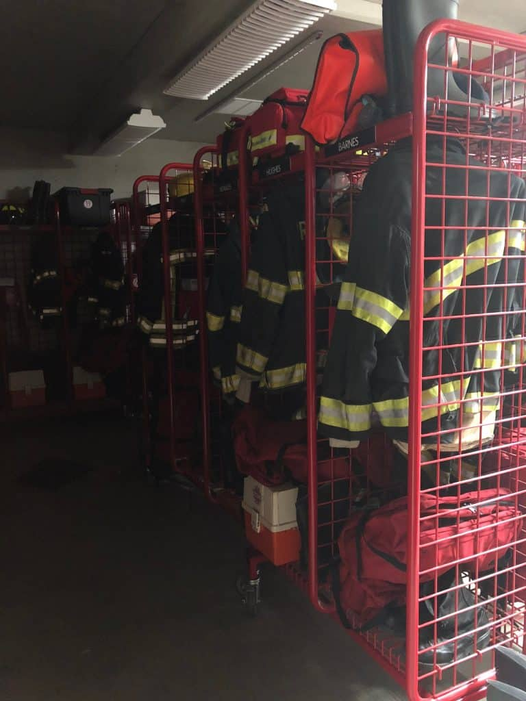 A display in a fire station