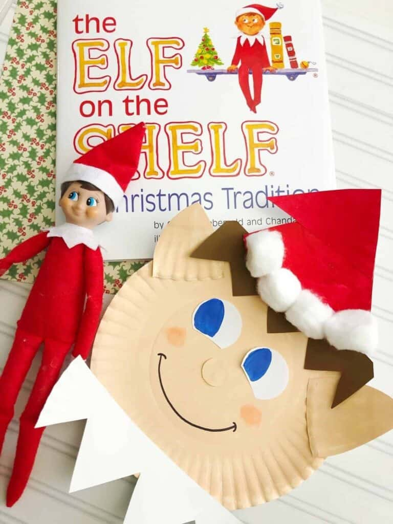 Elf on the Shelf Craft: Make your own Elf Plate
