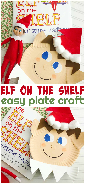 Elf on the Shelf Plate Craft