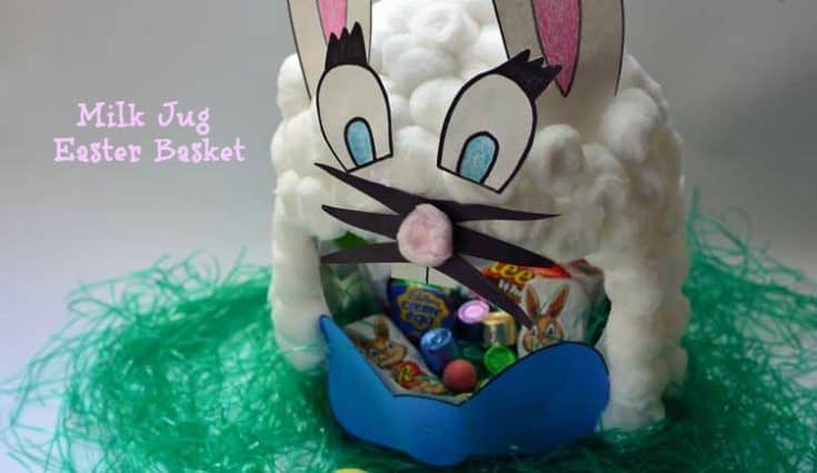 Milk Carton Bunny Easter Basket