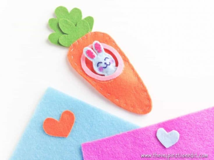Bunny In The Carrot Sewing Craft For Kids