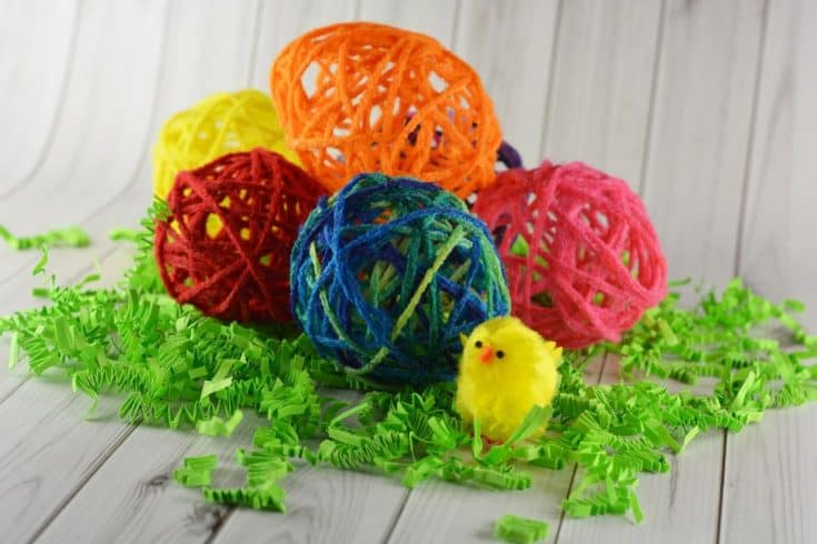 Yarn Eggs Kid's Craft - 4 The Love Of Family