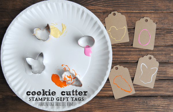 Cookie Cutter Stamped Gift Tags - Quick Easter Craft!