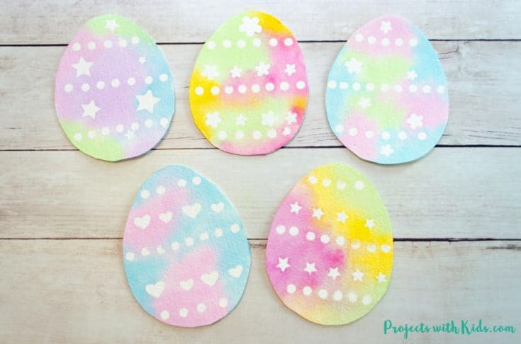 Create Simple Watercolor Easter Egg Art with Stickers