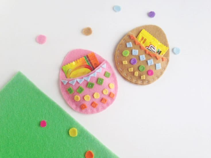 Easter Egg Felt Treat Pouch Project