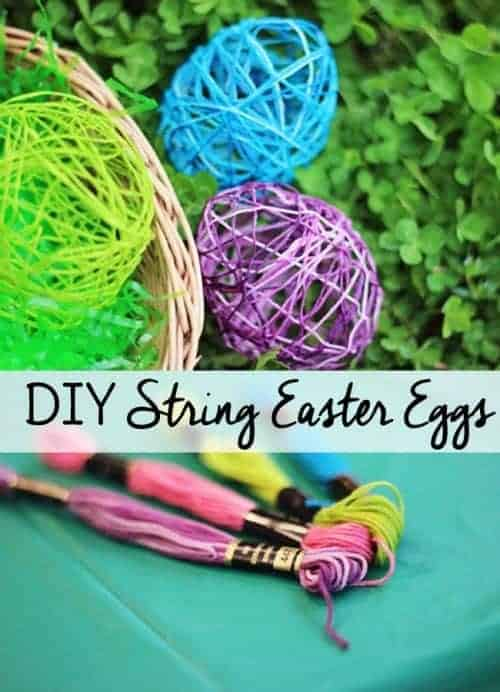 DIY String Easter Eggs